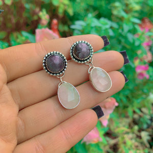 Amethyst & Rose Quartz Earrings - Gem & Tonik