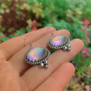 Angel Aura Quartz Earrings - Sterling Silver - Gem & Tonik