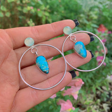 Load image into Gallery viewer, Kingman Turquoise & Aqua Chalcedony Earrings - Sterling Silver - Gem & Tonik