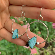 Load image into Gallery viewer, Number Eight Turquoise Earrings - Sterling Silver - Gem & Tonik