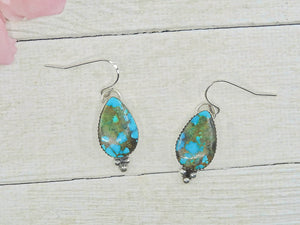 Royston Turquoise Earrings - Sterling Silver - Gem & Tonik