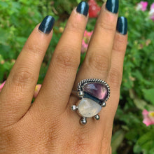 Load image into Gallery viewer, Fluorite & Moonstone Ring - Size 8 - Gem & Tonik