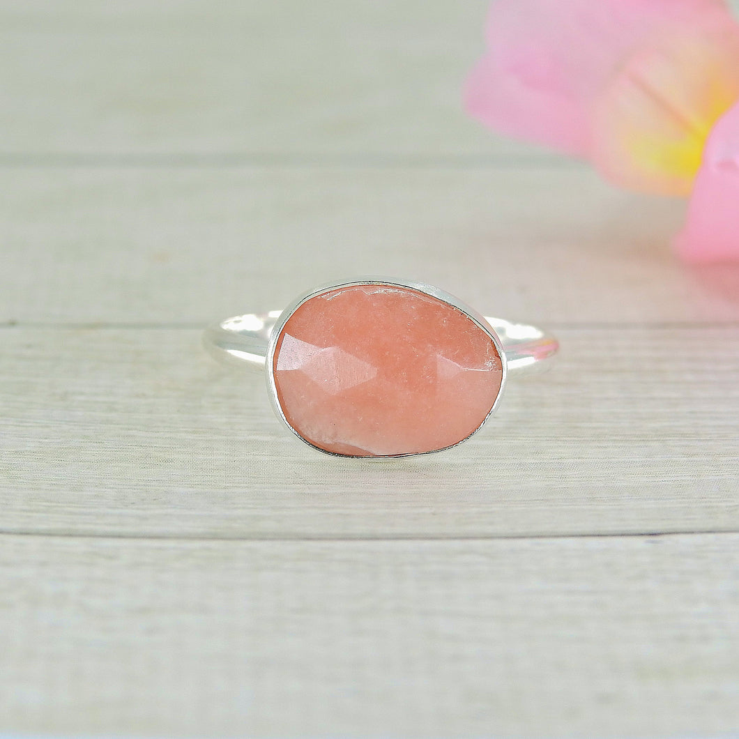 Rhodochrosite Ring - Size 11 - Gem & Tonik