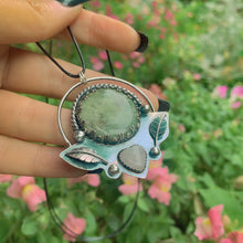 Load image into Gallery viewer, 'Love Amongst the Leaves' - Moss Agate & Rose Quartz Pendant - Gem & Tonik
