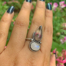 Load image into Gallery viewer, Fluorite & Moonstone Ring - Size 7 - Gem & Tonik