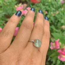 Load image into Gallery viewer, Square Prehnite Ring - Size 9 - Gem & Tonik