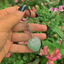 Load image into Gallery viewer, Green Aventurine Heart Keyring - Gem & Tonik