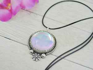 Angel Aura Quartz Flower Pendant - Gem & Tonik