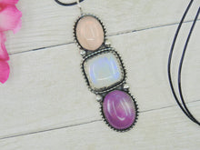 Load image into Gallery viewer, Rose Quartz, Amethyst & Moonstone Pendant - Gem & Tonik