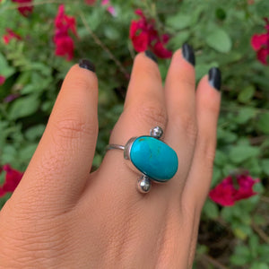 King's Manassa Turquoise Ring - Size 6 1/2 - Gem & Tonik