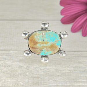 Number 8 Turquoise Ring - Size 8 1/4 - Gem & Tonik