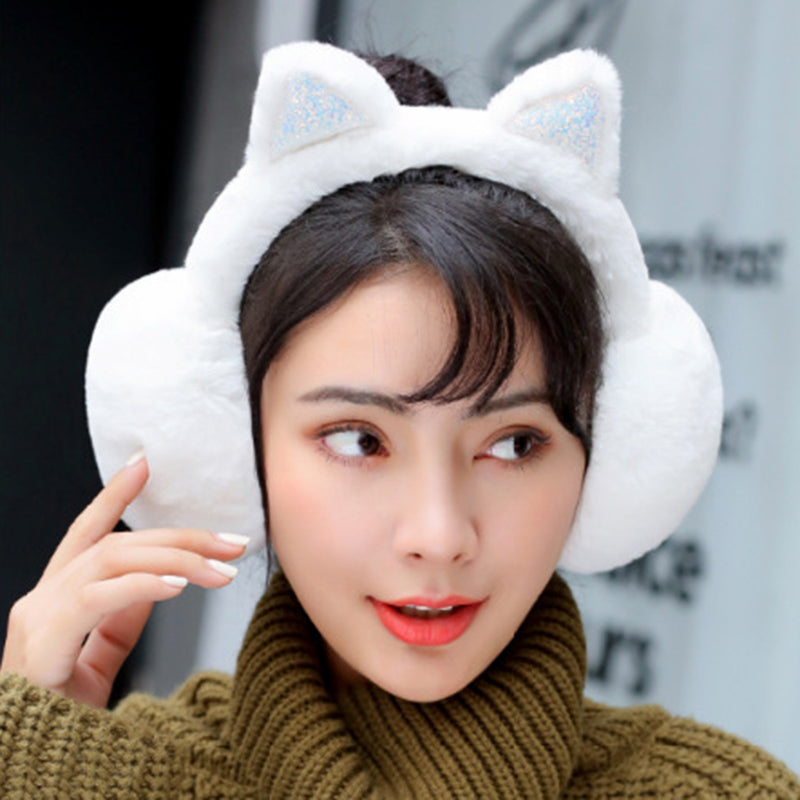 f36ee7d7e11 Adjustable Cat Earmuffs - Windproof Lovely Cat Foldable Ear Muffs