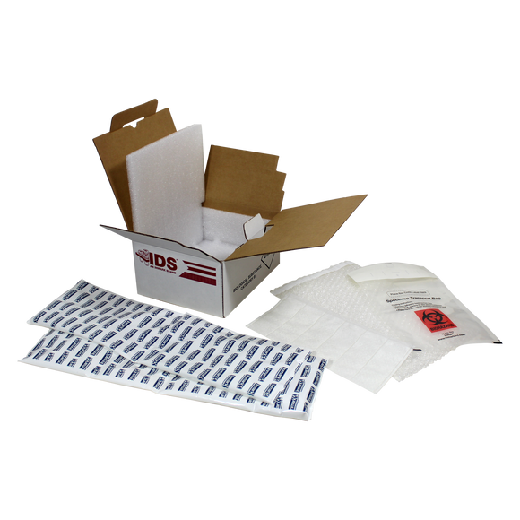IDS™ Category B (UN 3373) Ambient Extreme Insulated Shipping System w/ 2 Gel Wraps 6/Case