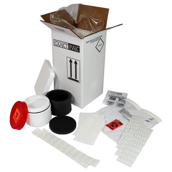 MD8204S01 - EXAKT-PAK® Category B Cool Uni-Pak® Insulated Shipping Solution for multiple loose swabs up to 3