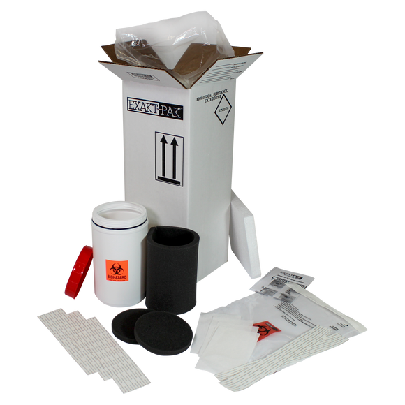 MD8285S01 - EXAKT-PAK® Uni-Pak™ Category B Cooled Insulated Shipping Solution for multiple loose swabs up to 7 1/4