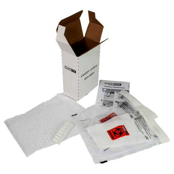 ME-A8750V06 - EXAKT-PAK® Exempt Ambient DX-Pak® Animal Specimen Insulated Shipping Solution for Blood Tube, Test Tubes and Vials