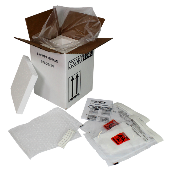 ME-A8752V06 - EXAKT-PAK® DX-Pak™ Exempt Cooled Animal Specimen Insulated Shipping Solution for Blood Tubes, Test Tubes and Vials
