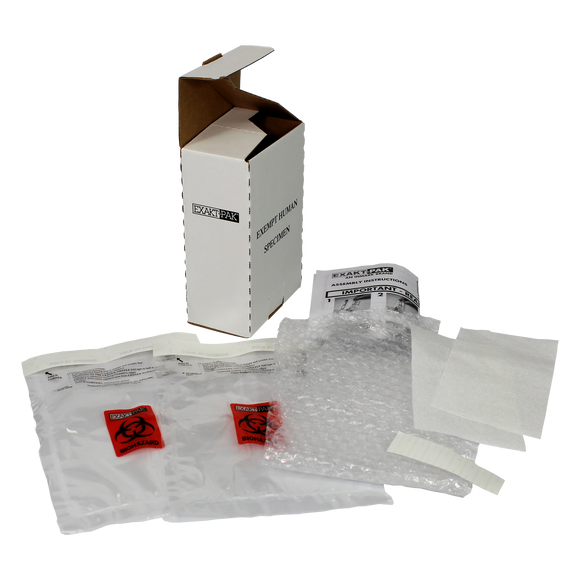 ME-H8750V06K25 - EXAKT-PAK® DX-Pak® Exempt Ambient Human Specimen Insulated Shipping Solution, Knocked Down Kit of 25
