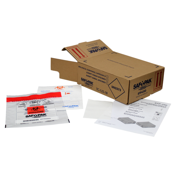 Saf-T-Pak® STP-250 - Category B Ambient Shipping System (UN 3373), Medium, 10/Case