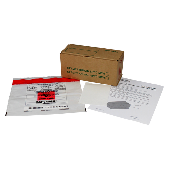 Saf-T-Pak® STP-210EXMT Ambient Exempt Human/Animal Patient Shipping System, Small, 25/Case