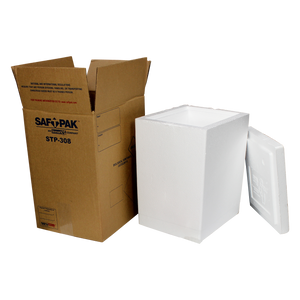 Saf-T-Pak® STP-308 - Replacement Outer Box and Insulated Chest only for STP 308SYS, 8/Case