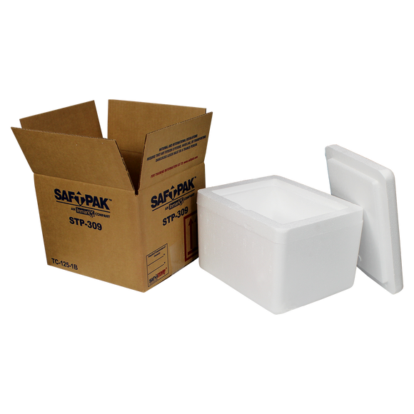 Saf-T-Pak® STP-309 - Replacement Outer Box and Insulated Chest only for STP 309SYS, 8/Case