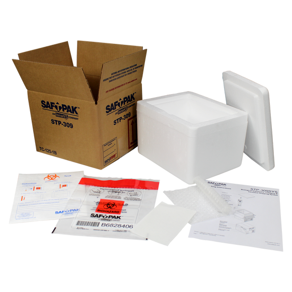 Saf-T-Pak® STP-309SYS Category B / Exempt Frozen Insulated Shipping System (UN 3373), 8/Case