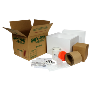 Saf-T-Pak® STP-320R Category B Insulated Shipping System (UN 3373), Frozen w/ Reusable Secondary Pressure Vessel, 4/Case