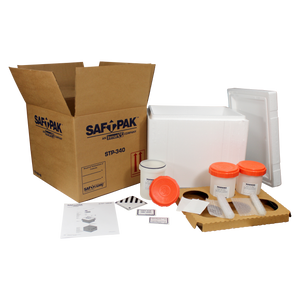 Saf-T-Pak® STP-340R Category B / Exempt Insulated Shipping System (UN3373), Frozen w/ Reusable Secondary Pressure Vessel, 2/Case