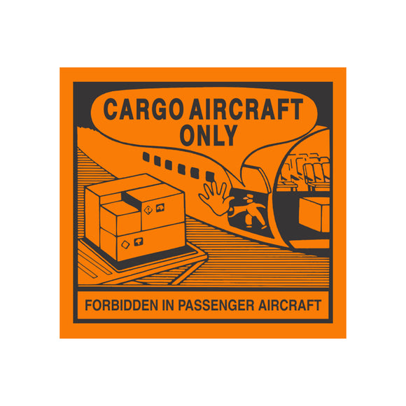 Saf-T-Pak® STP-806 Cargo Aircraft Only Label, 5 x 5