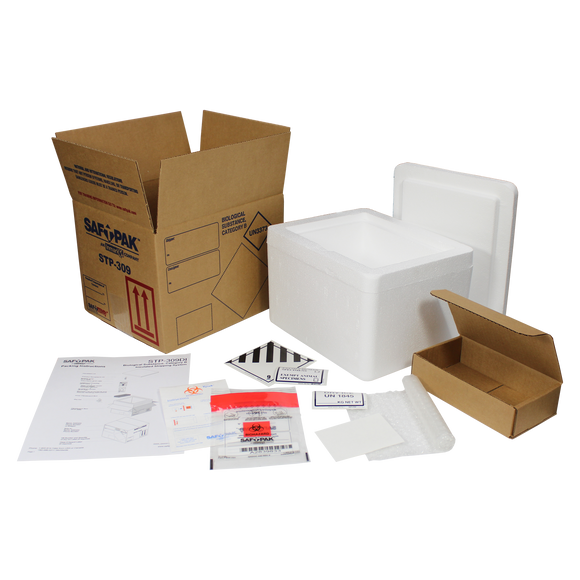 Saf-T-Pak® STP-309DI Category B Frozen Insulated Shipping System, (UN3373) 8/Case