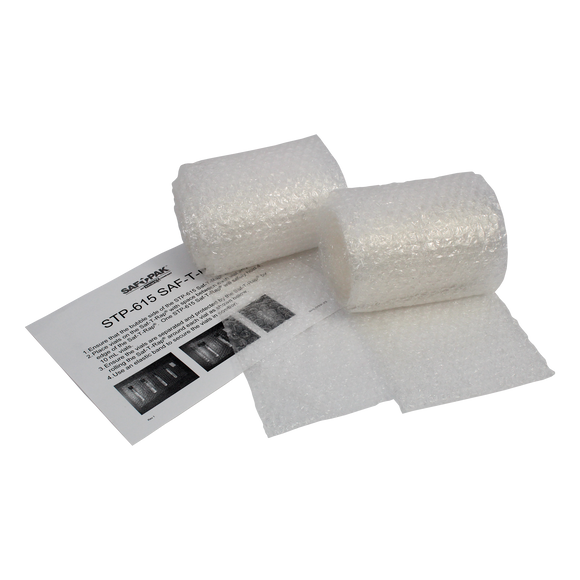 "Saf-T-Pak® STP-615 Saf-T-Rap® Perforated Bubble Wrap, No Adhesive - 6 x 12"" 40/case"