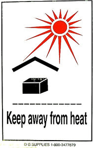 Keep From Heat Handling Labels