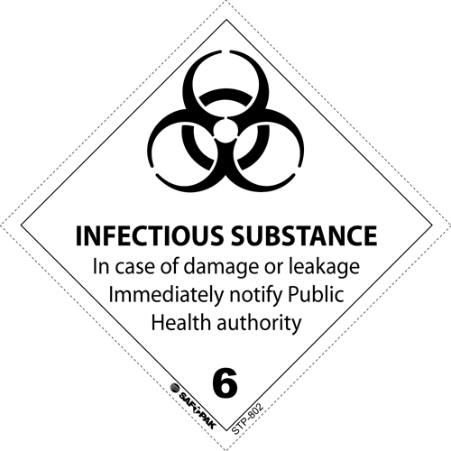 Class 6 Infectious Substances Labels