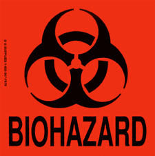 Biohazard Handling Labels