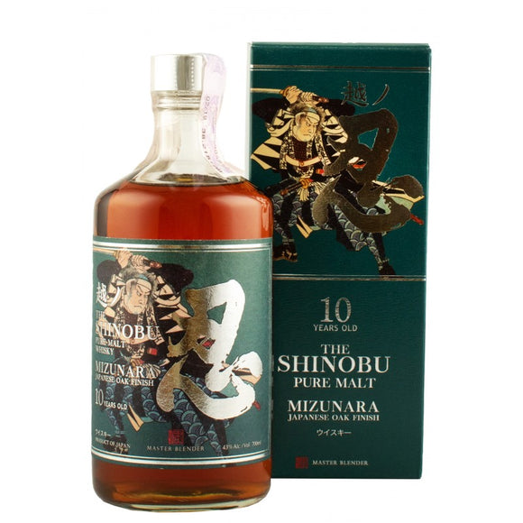 Shinobu 10YO Pure Malt Whisky Mizunara Oak Finish 0.7L 43%