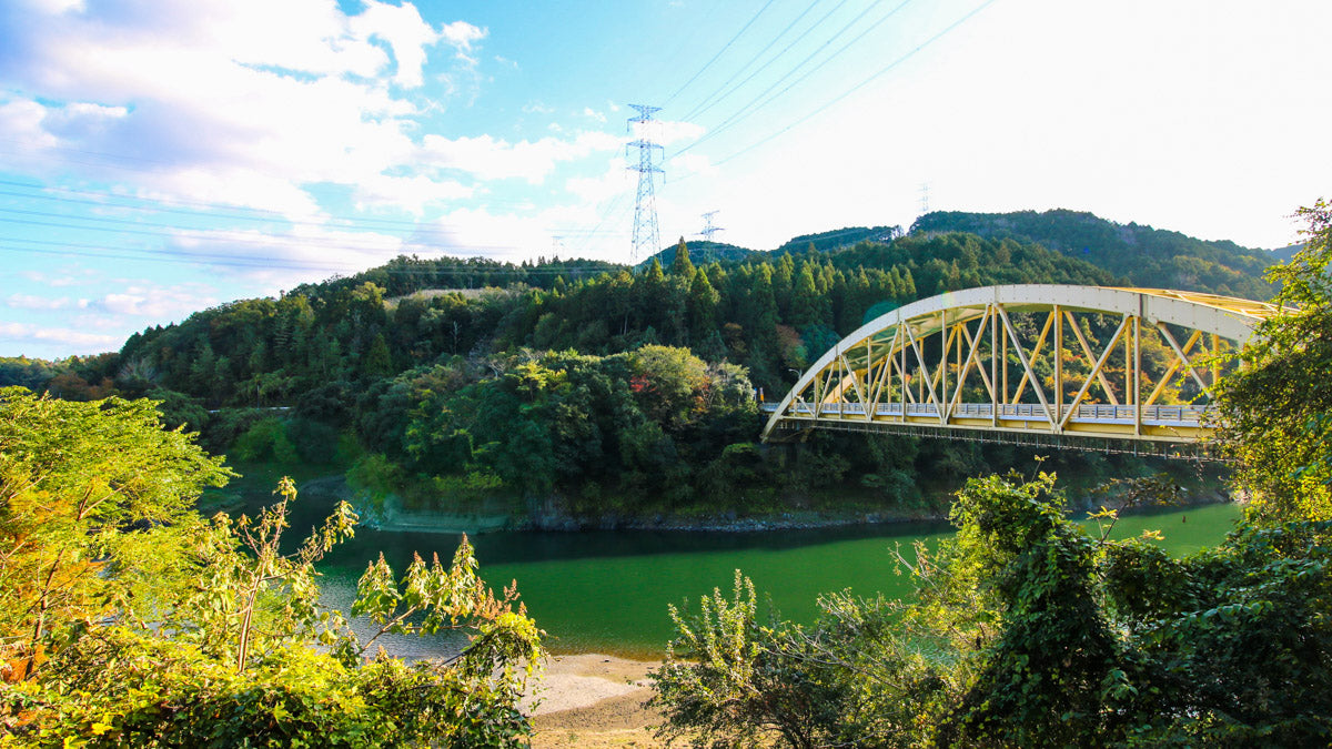 The Yuzuka bridge we cross on our way to Otsu on the Uji to Otsu and back cycling route.
