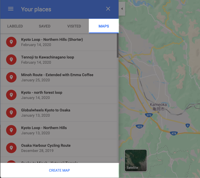 """Click on """"Your places"""" in Google maps settings."""