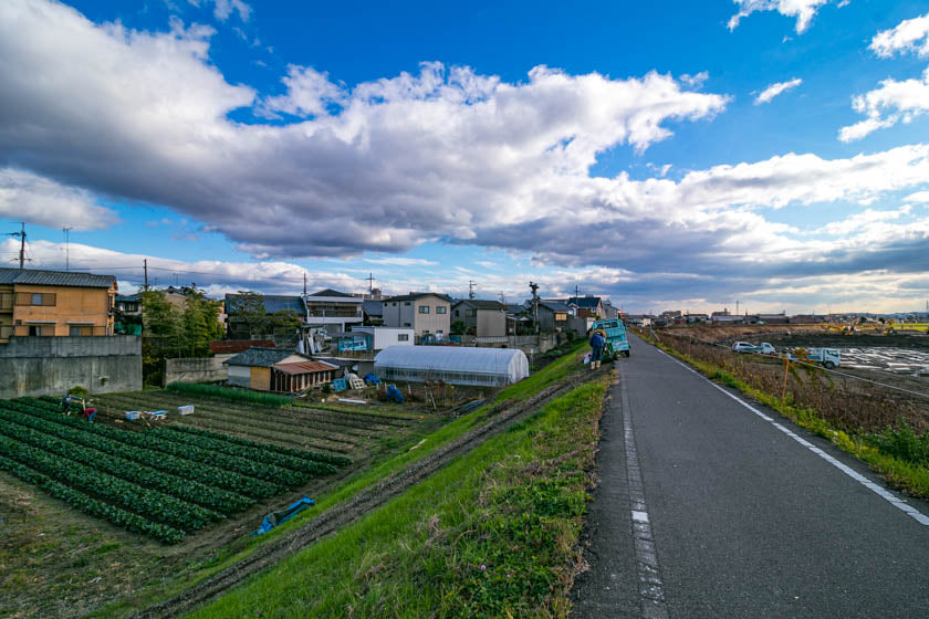 Glorious scenery near the end of the Katsura river leg of the route.