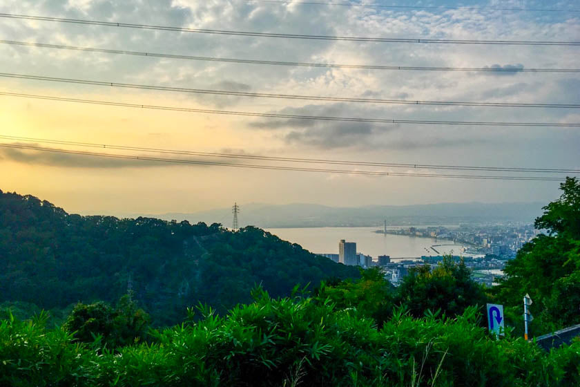 View from the mountain heading to Biwa.