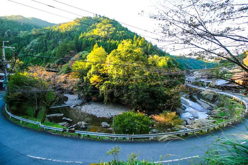 Marvelous scenery around Nakagawa village which we cycle through on our route.