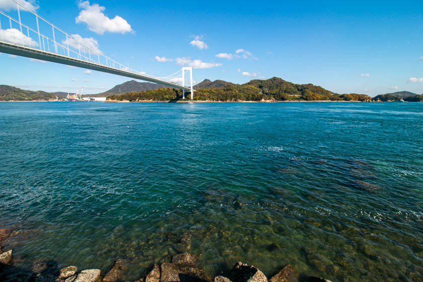 The stunning ocean along the shimanami kaido cycling route.