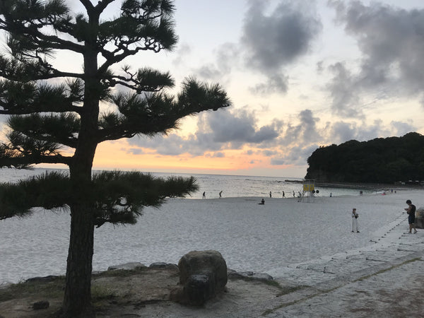 Shirarahama beach in Wakayama. A beautiful beach on the Wakayama 800 route.