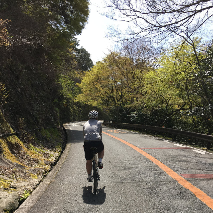 Cycling in the hills of Minoh.