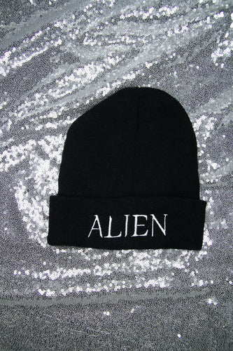 Alien Embroidered Beanie