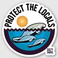 Protect the Locals - Manatee Vinyl