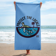 Protect the Locals Turtle Beach Towel