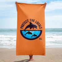 Protect the Locals Dolphin Beach Towel