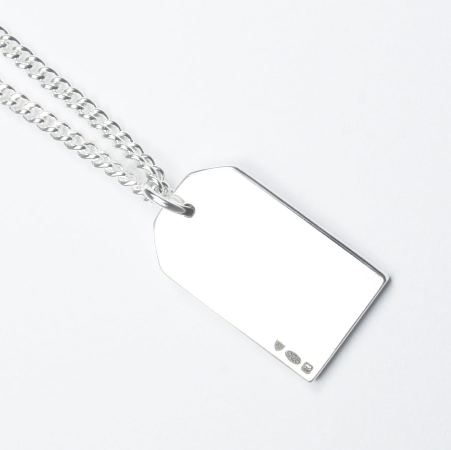 SILVER GIFT TAG NECKLACE Gift Tag Hetariki Jewellery