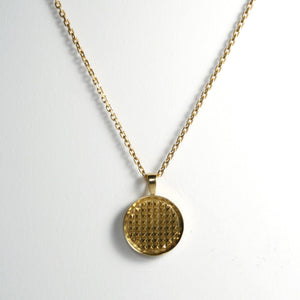 GOLD PYRAMIDS MEDALLION NECKLACE Hetariki Jewellery